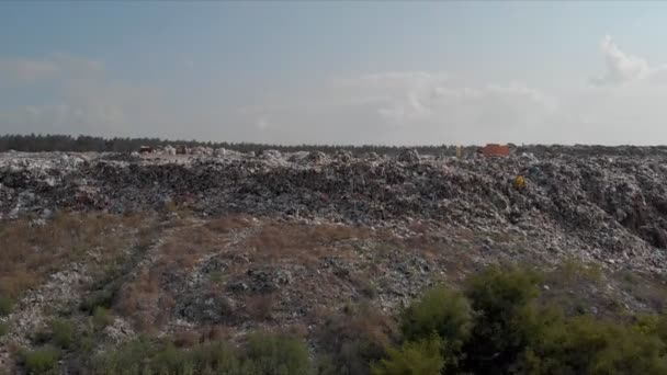 Garbage dump, top view of the trash. Landfill.