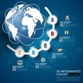 obchodní Infographic šablony. Vizualizace dat