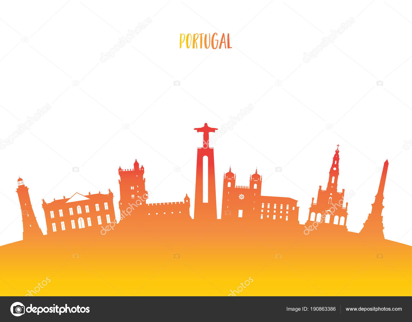 Portugal Landmark Global Travel And Journey Paper Background Vector Design Templateused For Your Advertisement Book Banner Template Business Or