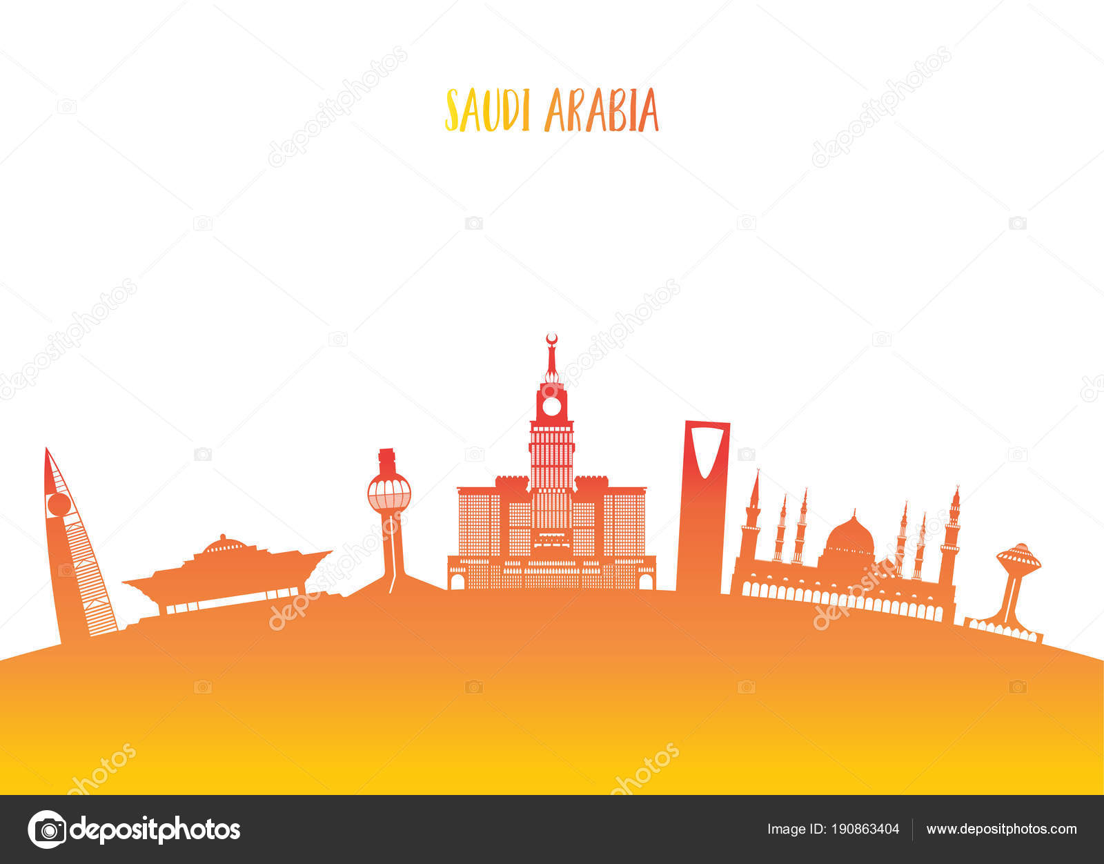 Saudi Arabia Landmark Global Travel And Journey Paper Background Vector Design Templateused For Your Advertisement Book Banner Template