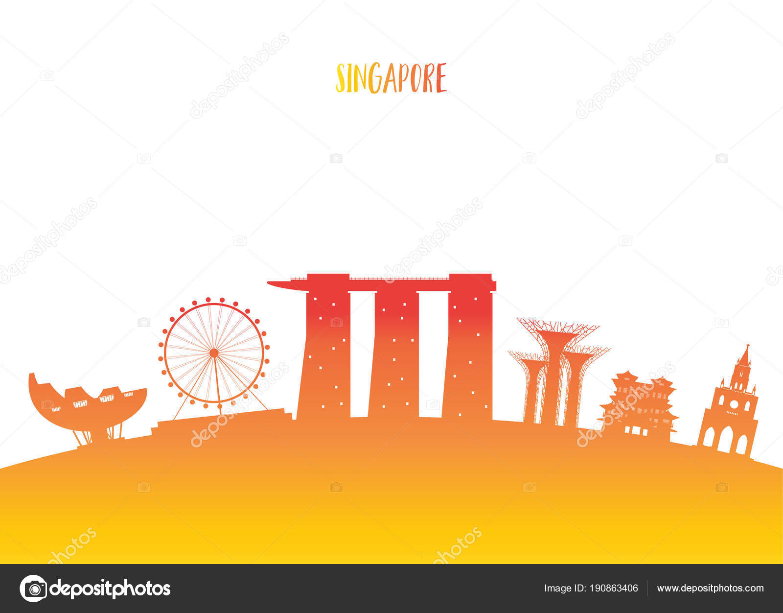 Singapore Landmark Global Travel And Journey Paper Background Vector Design Templateused For Your Advertisement Book Banner Template Business