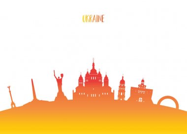 Ukraine Landmark Global Travel And Journey paper background. Vec