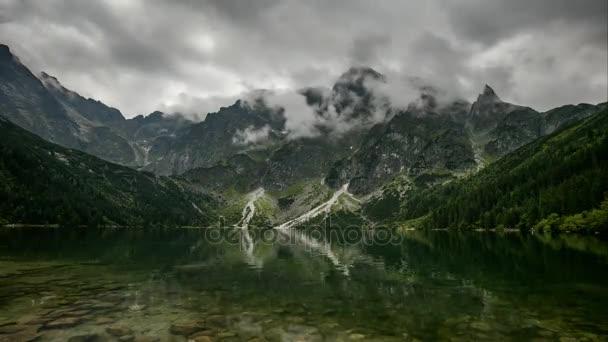 Horské jezero v Polsku Tatra, Morskie Oko - časová prodleva