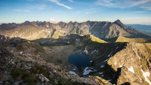 Časová prodleva horských parkovistě na léto v Tatrách Polsko blízko Zakopane
