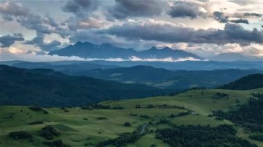 Time lapse of Summer mountain landscape in Slovakia, Tatras
