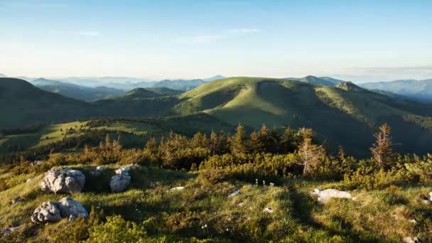 Horské slunce parkovistě na Slovensku, Suchy peak, časová prodleva