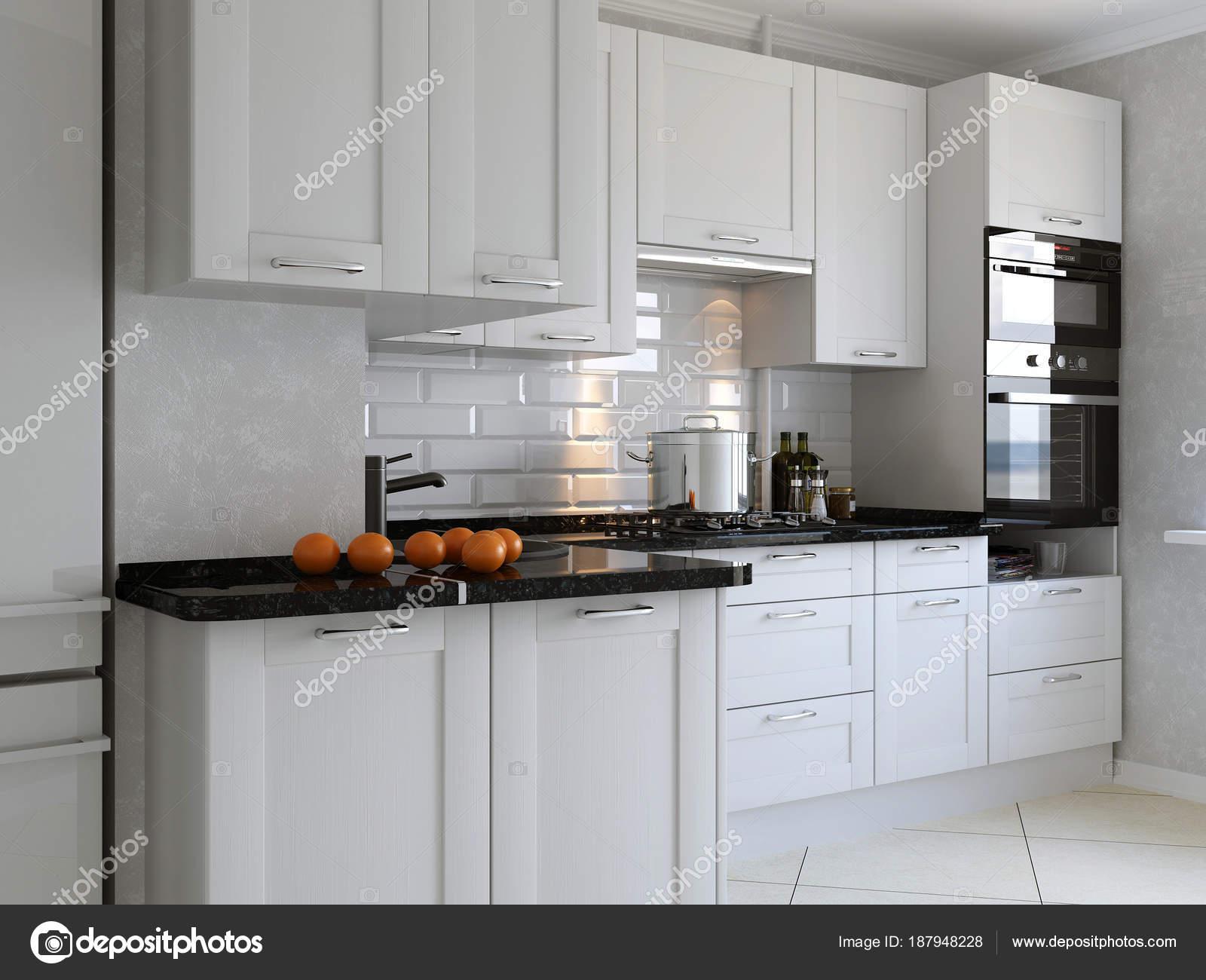 Cuisine Moderne Maison Avec Ustensile — Photographie Johnovich ...