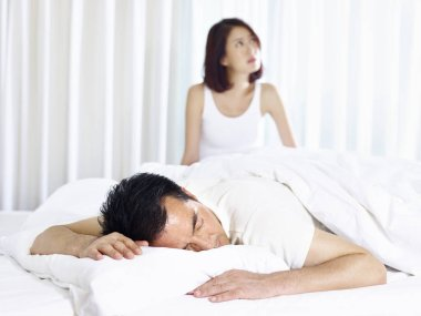 young asian couple with relationship problem