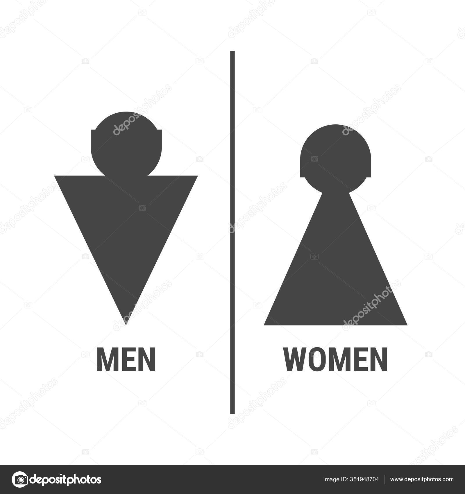 silhouette toilet sign vector illustration triangular man woman sign stock vector c ivanburchak 351948704 depositphotos