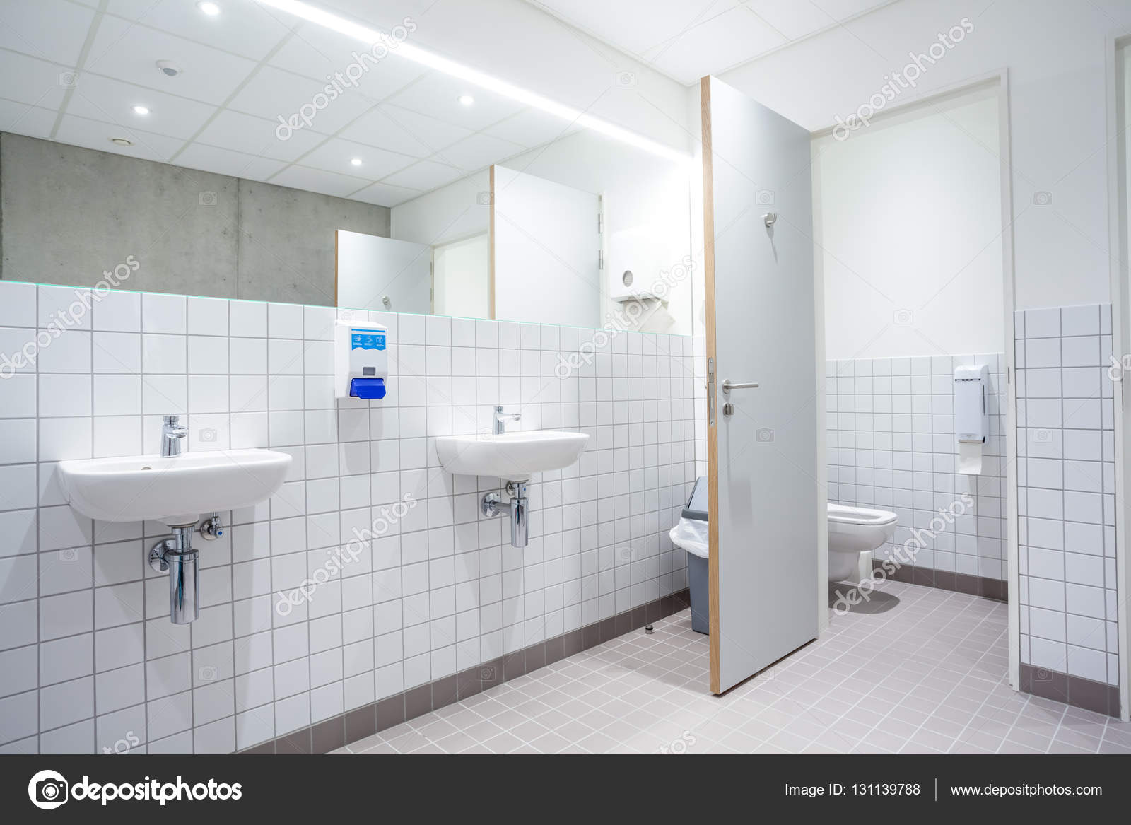 doors from toilets and sinks — Stock Photo © DenBoma #131139788