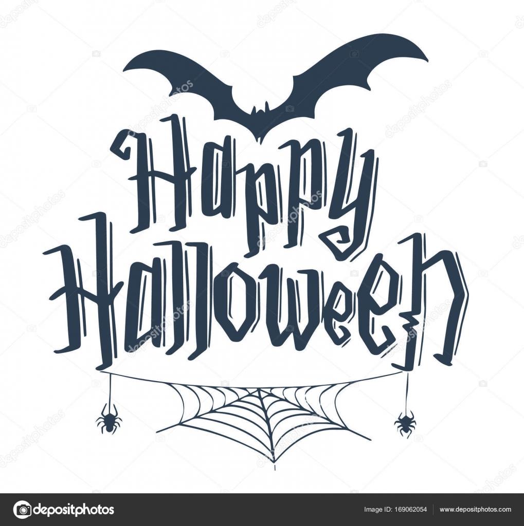 Happy Halloween Vector Lettering Stock Vector C Kapan S 169062054