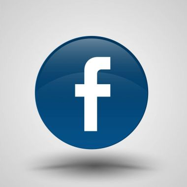 Original Round Blue Facebook Web Icon