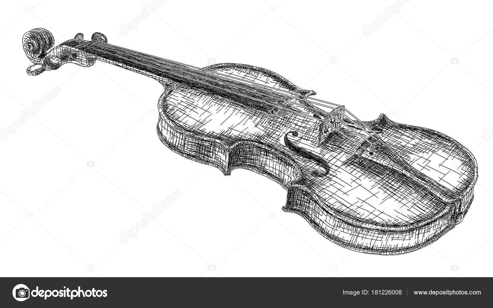 Dessin De Violon illustration vectorielle, dessin de violon — image vectorielle