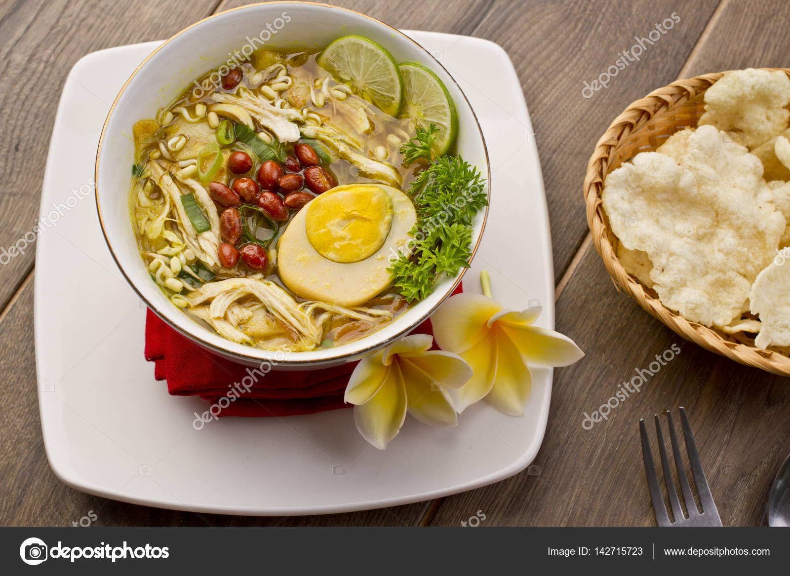 Soto Ayam Indonesian Chicken Soup Stock Photo