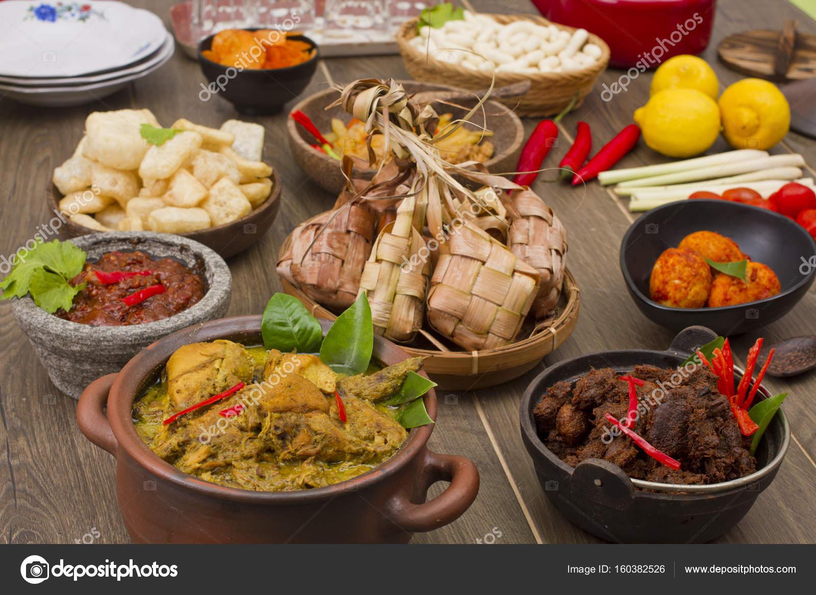 Ketupat Lebaran Indonesian Rice Cake Stock Photo