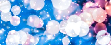 Magic sparkling shiny glitter and glowing snow, luxury winter ho