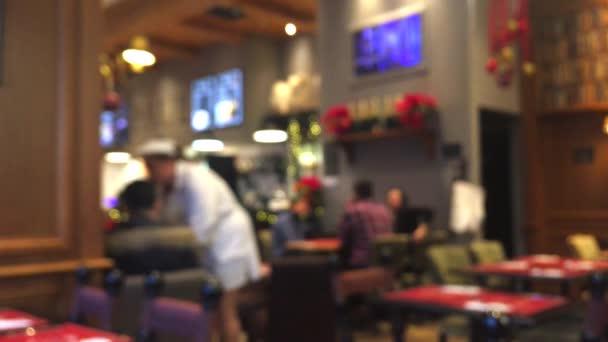 Rozmazané rozostřené kavárna, kavárna nebo restaurace interiér pozadí, abstraktní digitální pozadí, rozmazané bokeh pro volný čas a cestování značkové design, dovolená sezóna vlog