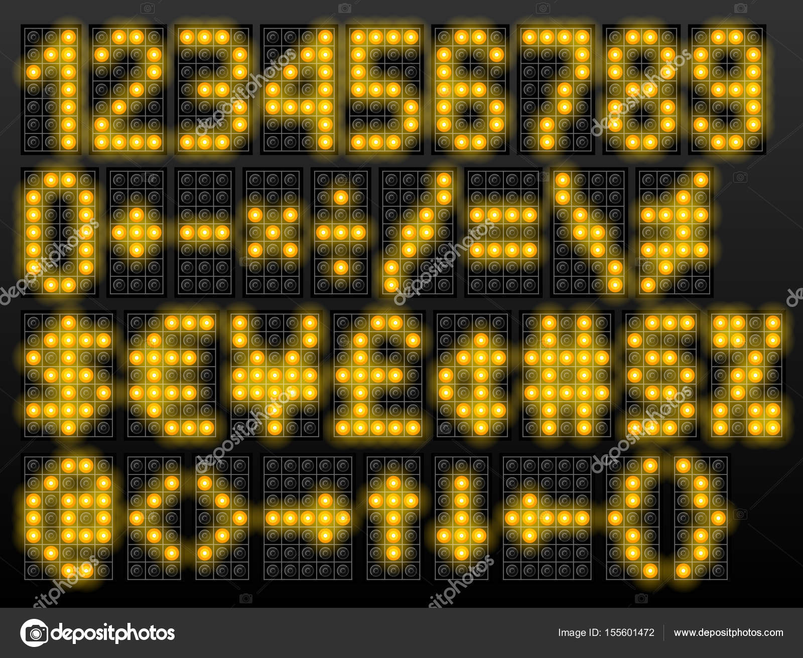 Led digital font based on dot matrix technology stock vector led digital font based on dot matrix technology stock vector buycottarizona Image collections
