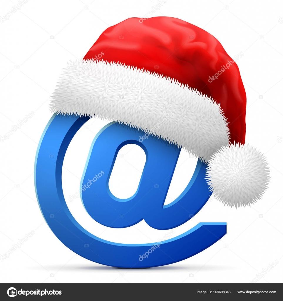Immagini Natale Email.Immagini Email Natale Simbolo Del Email In Cappello Rosso