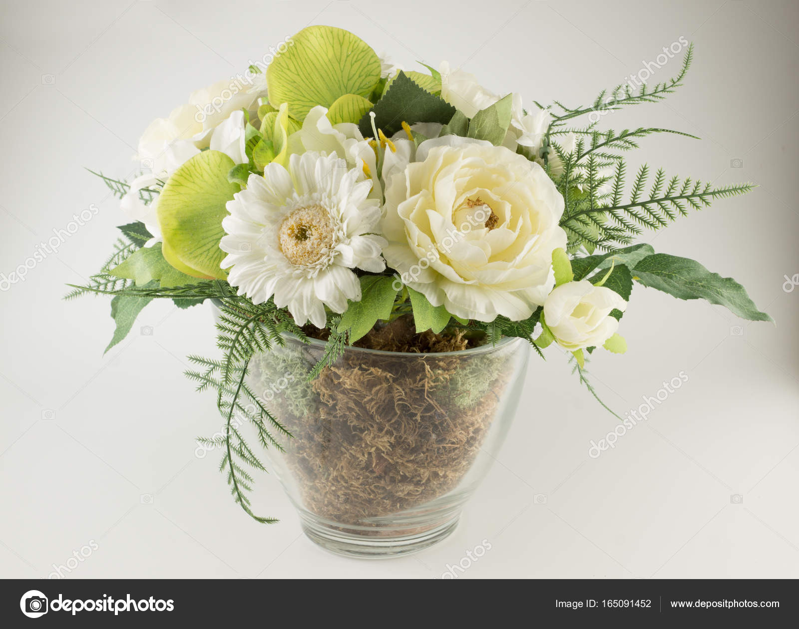 Bouquet Of Beautiful Artificial Flowers Stock Photo Krezofen