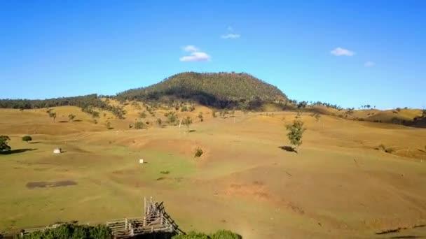 Aerial view of Mount Walker in the afternoon in Queensland, Australia