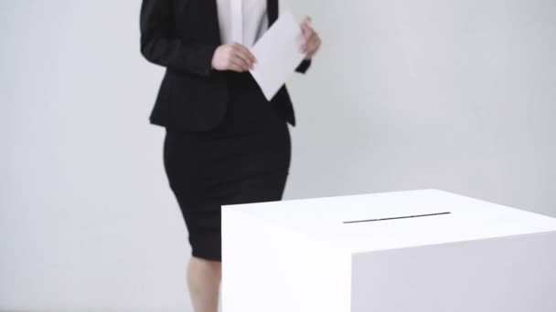 levágott kilátás üzletasszony szavazás fehér