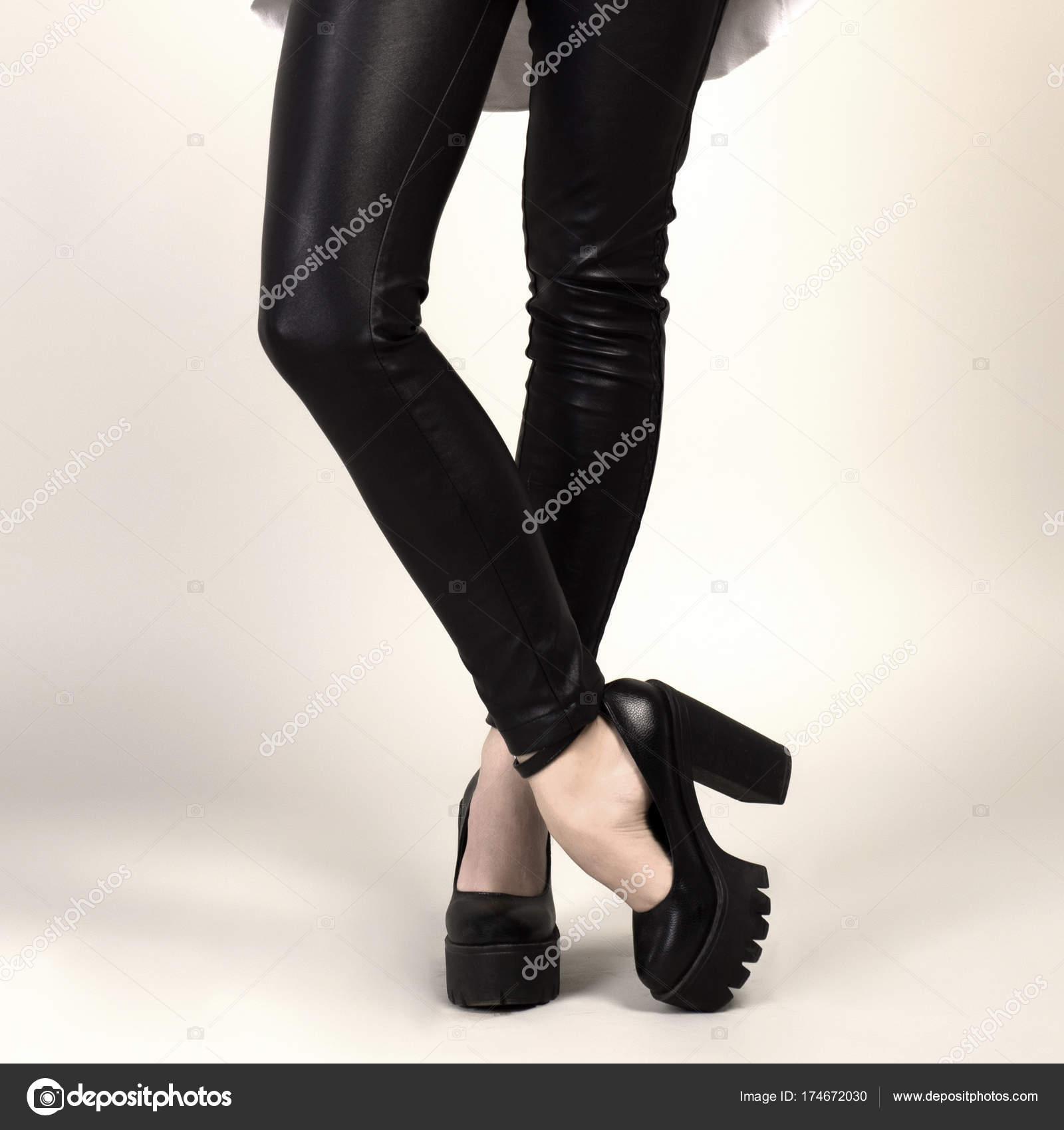 Skinny legs high heels commit error