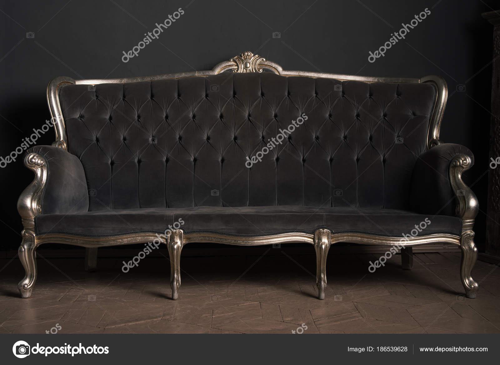 Beautiful Vintage Sofa In A Retro Interior Vintage Background