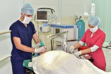 Doctors at work