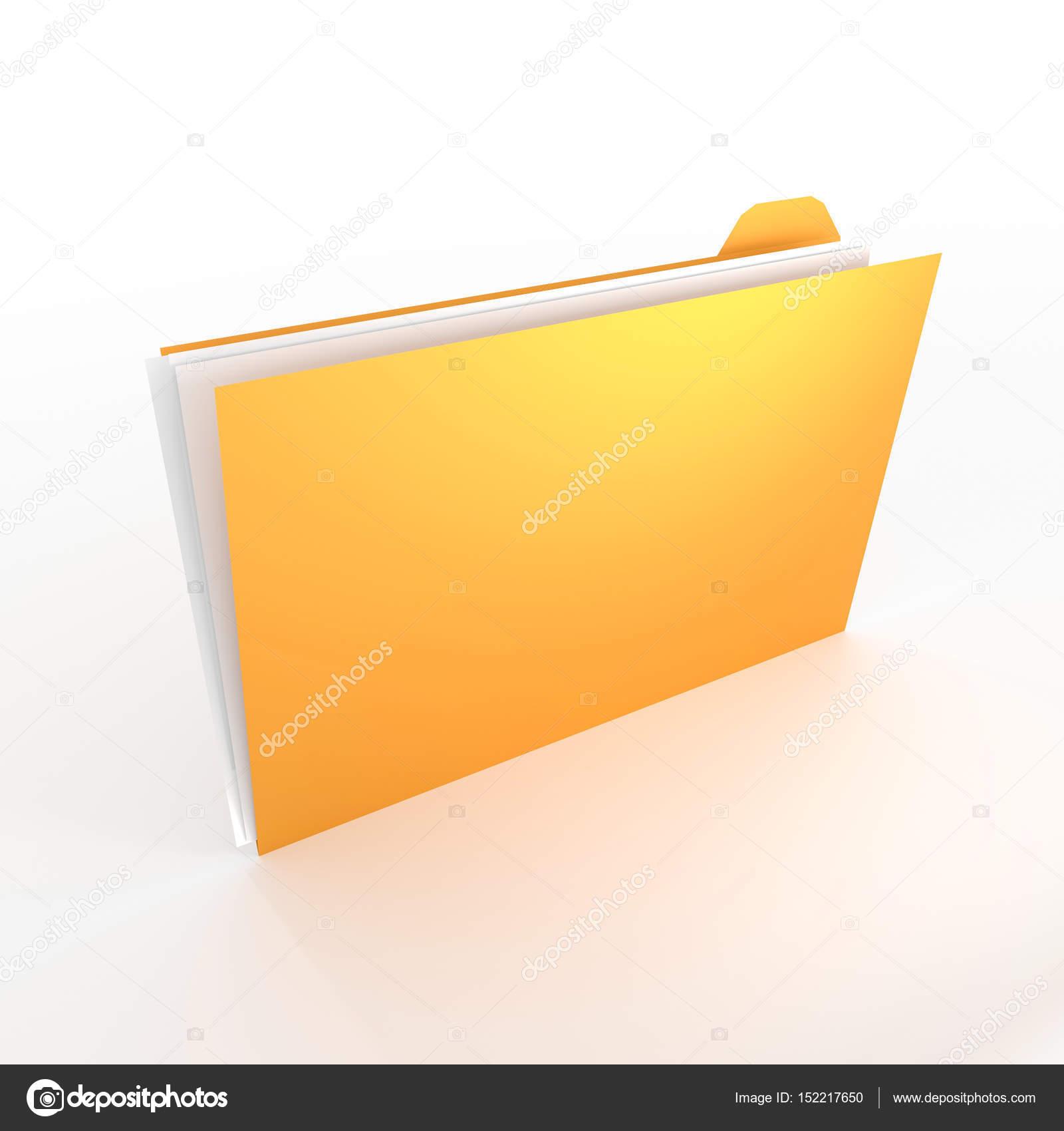 concepto de carpeta 3D - ideal para temas como oficina, documentos ...
