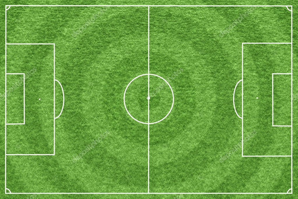 Soccer field or football field pattern and texture background with clipping path. Sport background for create tactic idea and game strategy.