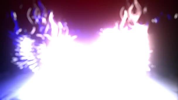 Geflügelter Schädel mit Flammenlaser-Animation