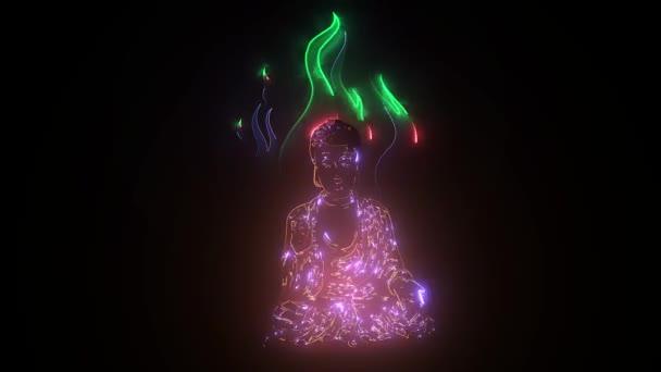 meditace aura buddha video animace