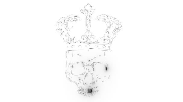 Skull King Crown design element