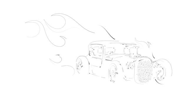 retro autó, hot rod garázs, hotrods car, old school car,