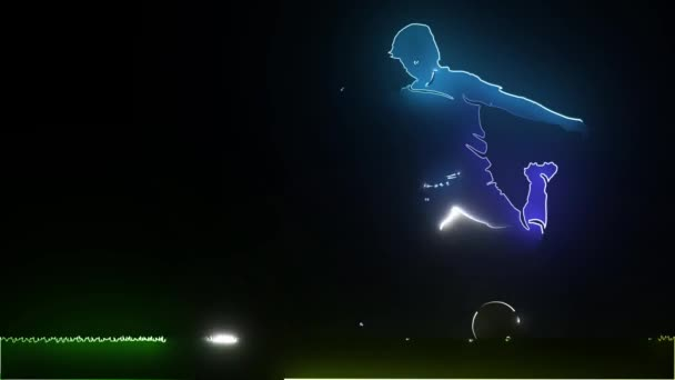 football soccer player silhouette with ball isolated