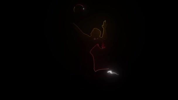 Silueta volejbalisty. video
