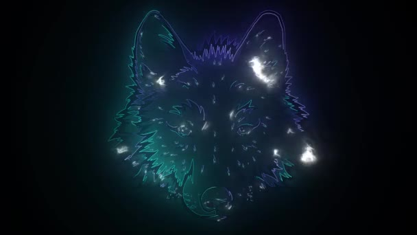 Farkasfejű neon. digitális videó