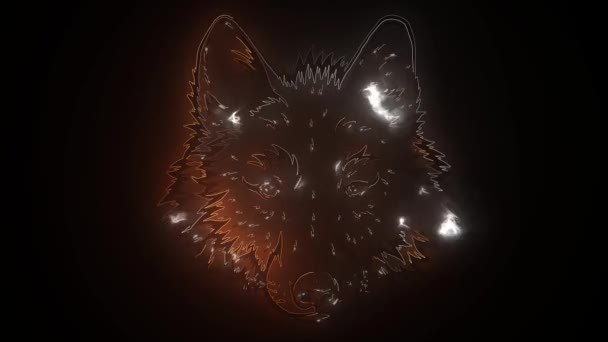 wolf head in front video