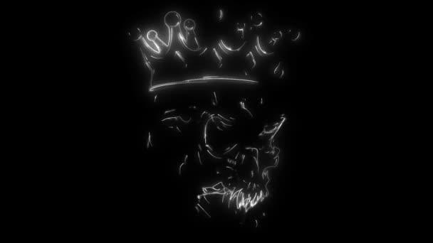 koponya király digitális videó animáció