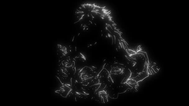 animáció ló rózsákkal, és hogy világít