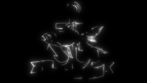 animáció egy hal, és világít