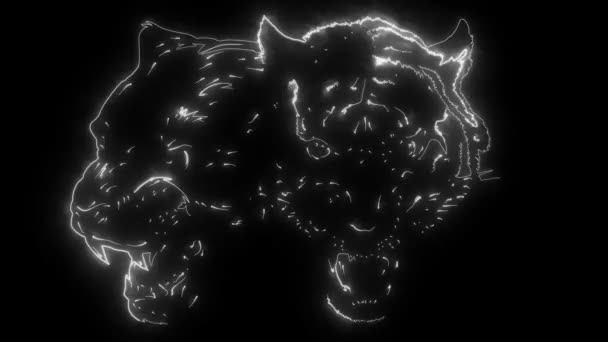 animation of a tiger and panther and that lights up