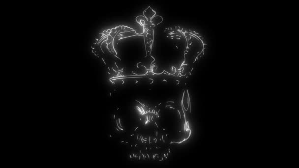 animation of a king skull and that lights up