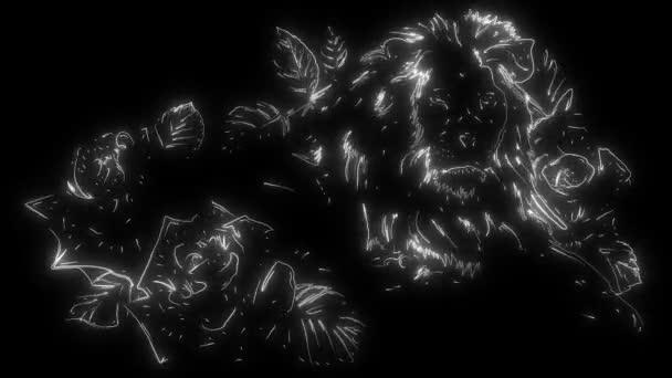 animáció egy oroszlán, és világít