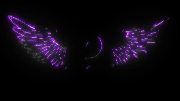 Digitale Animation des Yin Yang beleuchtet Neon-Stil