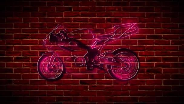 Ikona neonu motocyklisty. Jednoduchá ikona pro webové stránky, web design, mobilní aplikace, info grafika