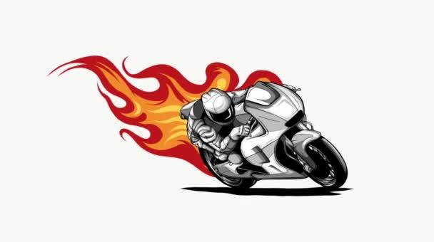 Tüzes Sport Motorkerékpár Racer Variációs videó