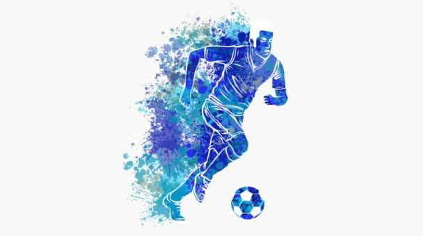 Fußballer kickt Ball Video des Sports