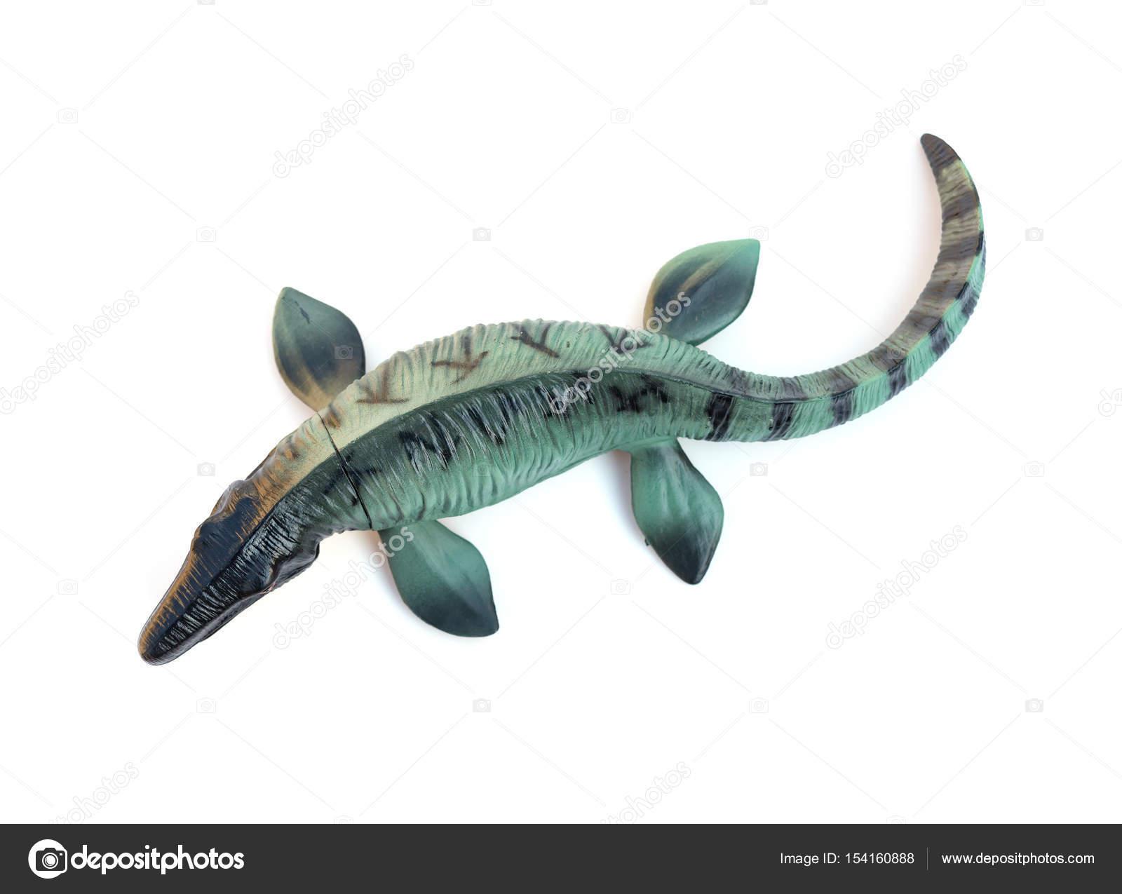 Juguete De Mosasaurus Vista Superior Sobre Fondo Blanco